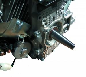 Двухцилиндровый двигатель Zongshen ZS GB 680 FE для генератора с конусом