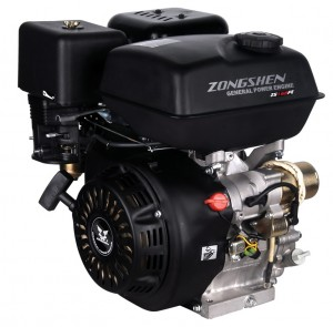 Четырехтактный бензиновый двигатель для мотоблока, мотокультиватора Zongshen (Зонгшен) ZS 168F 6,5 л.с. с электрическим стартером и катушкой освещения