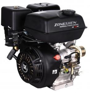 Четырехтактный бензиновый двигатель общего назначения Zongshen (Зонгшен) ZS 190 F 15 л.с. с электрическим стартером (электрозапуском) и катушкой освещения
