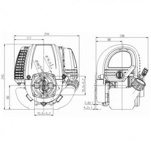 Двигатель бензиновый четырехтактный Zongshen S 35 для велосипеда