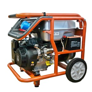 Бензиновый однофазный генератор (электростанция) Zongshen KB 7000 6.5 кВА (кВт) с электрическим запуском (электростартером)